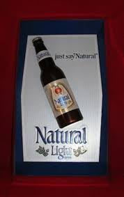 how much alcohol is in natural light beer natural light beer sign item no 423 001 anheuser busch 3d plastic