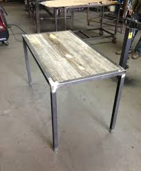 Diy Metal Desk Diy Metal Desk Diy Pallet Desk With Flat Box Metal Legs Pallet