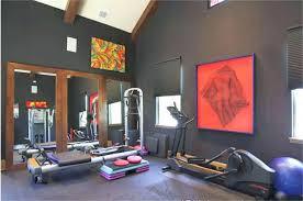 home interior accents home gym interior design ideas striking accents for gray painted