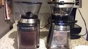 Mr Coffee Burr Mill Grinder Review Side By Side Cuisinart Burr Coffee Grinder Comparison Youtube
