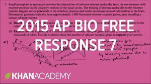 2015 ap biology free response 7 youtube