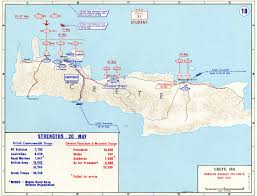 Map Of Europe 1941 by Map Of German Invasion Of Crete May 1941