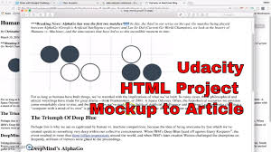 html tutorial udacity udacity html project mockup to article youtube