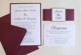 wedding invitations burgundy burgundy wedding invitation with belly band beige and