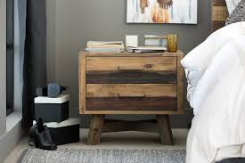 decorative reclaimed wood nightstand laluz nyc home design