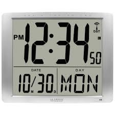 digital wall clocks wall decor the home depot