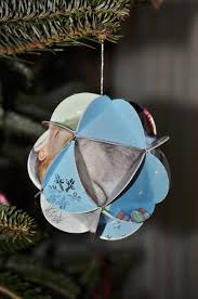 recycled card ornaments where do we find the time
