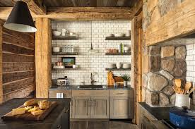 Lake House Kitchen by Rustic Lakeside Retreat In Wisconsin Features Inviting Design Details
