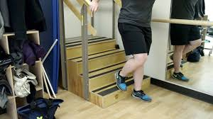 walking up steps and curbs after knee or hip replacement youtube