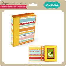 gift card book accordion book box gift card holder lori whitlock s svg shop