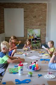 mer mag kids craft camp unit 2 painting printmaking