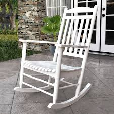 White Rocking Chair Shop Shine Company Maine White Composite Patio Rocking Chair At