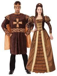 Tudor Halloween Costumes Mens Ladies Tudor King Queen Costume Medieval Historical Fancy