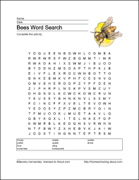 bees wordsearch vocabulary crossword and more