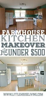 how to fit a kitchen cheaply farmhouse style kitchen makeover for 500 cheap