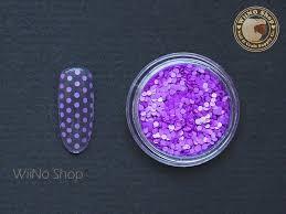 1mm neon purple round dots glitter nail art craft nail art