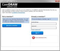 corel draw x6 has switched to viewer mode expired validation and membership login coreldraw graphics suite
