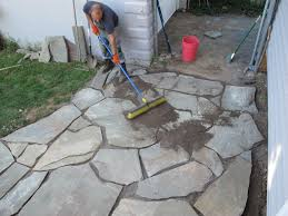 How To Make A Flagstone Patio With Sand The 12 Hour Diy Flagstone Patio Merrypad