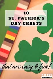 k is for kinderrific 10 st patrick u0027s day crafts