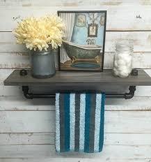 amazon com industrial towel rack shelf rustic shelves