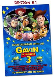 toy story birthday party invitations 1 2 3 buzz woody jessie space