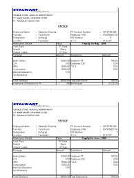 salary receipt template payslip doc template examples