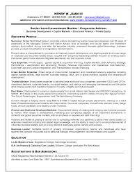 Investment Banker Resume Sample cv examples for bankers resume examples technical skills section
