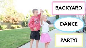 backyard dance party 9 12 15 youtube