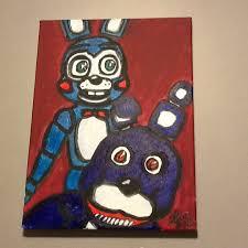 painting fnaf fnaf bonnie and bonnie painting by anarchygunrage on