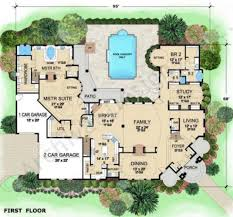villa floor plan villa visola mediterranean house plan luxury house plan