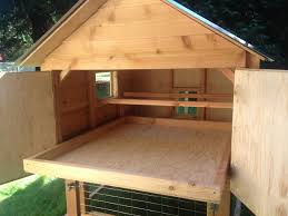 simple design of poultry house with inside small chicken coop