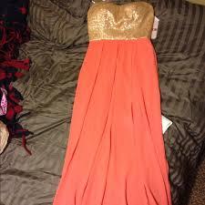 gold maxi dress 54 gianni bini dresses skirts coral pink gold maxi