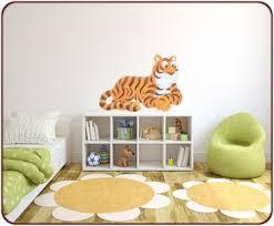 stickers jungle chambre bébé stickers jungle un sticker tigre pour chambre d enfant