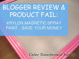 product fail krylon magnetic spray paint color transformed family