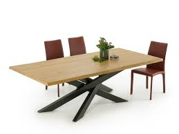 connor crossed leg dining table homeplaneur
