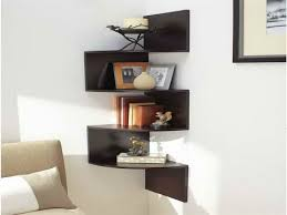 Corner Wall Shelf Corner Wall Mounted Shelves For Electronics - Wall hanging shelves design