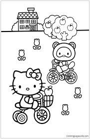 Hello Kitty Apple Tree Coloring Page Free Coloring Pages Online Hello Tree Coloring Page