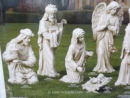 9 outdoor nativity set