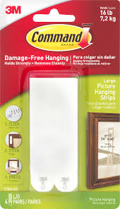 Picture Hangers Without Nails by Command Damage Free Hanging Large Picture Hanging Strips 4 Prs