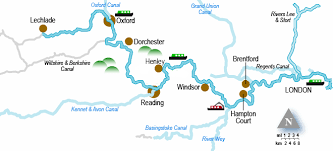 thames river map europe river thames holiday cruising guide and map with canal junction