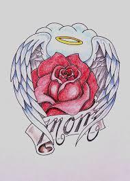 cross angel wing tattoos nice mom banner cross angel wings tattoo stencil tattoobite com