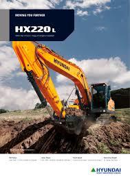 hx220 l crawler excavator hyundai heayy industries pdf