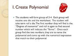 games week 4 lydia kang i create polynomial the students will