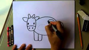 how to draw a cow easy drawing tutorial fun for kids moo