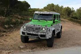 mercedes g wagon green new mercedes amg g class variant spied benzinsider com a