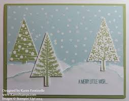 festival of trees snow card sting with
