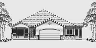 One Level Houses Ranch House Plans American House Design Ranch Style Home Plans