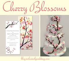 Cherry Blossom Wedding Invitations Colorful Wedding Invitations With Cakes To Match