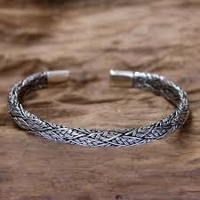 cuff silver bracelet men images Men 39 s silver cuff bracelet warrior novica jpg