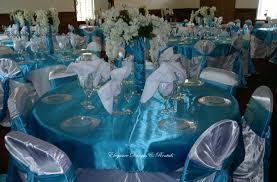 Tiffany Color Party Decorations Caribbean Blue U0026 White 90th B Day Party Table Venue Designs